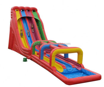 Inflatable Triple Lindy With Surf N Water Slide