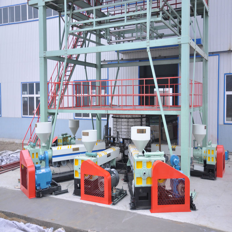 Full automatic mechanical hand type plastic film blow machine