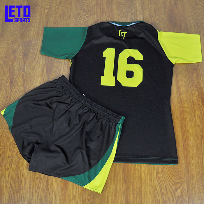 Custom all  Black Rugby Jerseys ForTeam