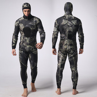 Realon OEM Supply Sportswear scuba diving 2 Pieces Wetsuit 7mm For Men