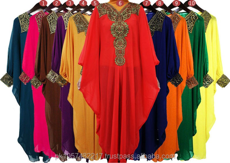 kaftan dress - 2014 beautiful design dubai kaftan dress - Fashion women wholesale kaftan dress - Abaya kaftan dress