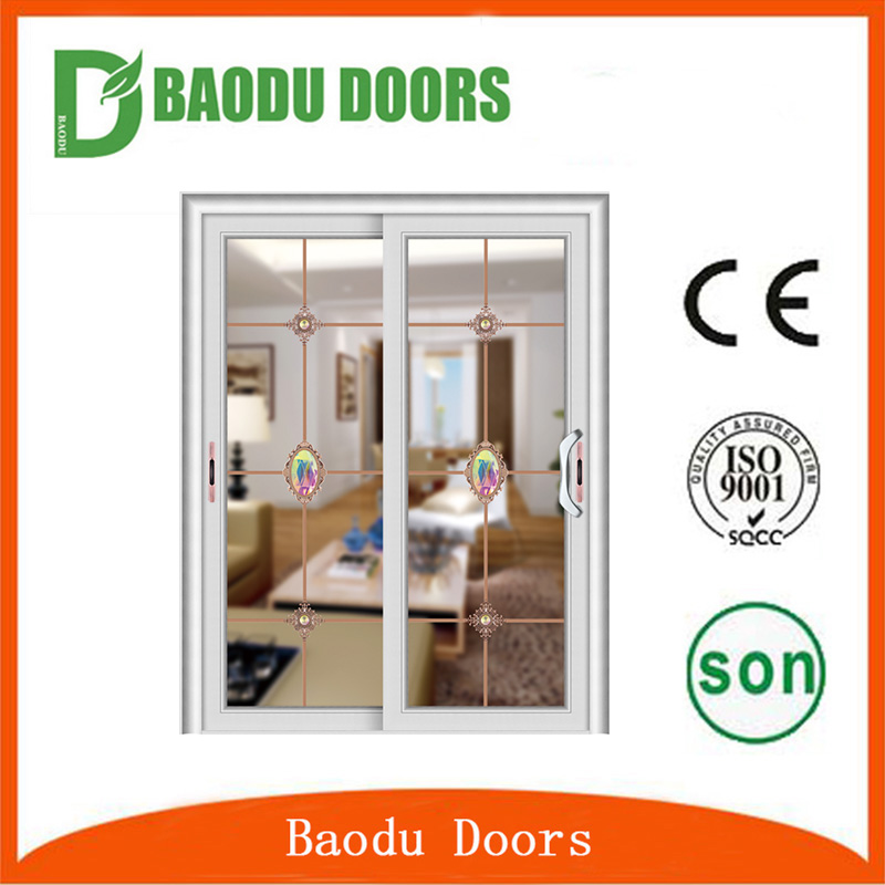 2016 Baodu New design aluminum alloy balcony double sliding screen doors
