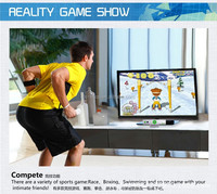 Interactive TV video console +World athletics TV video games.