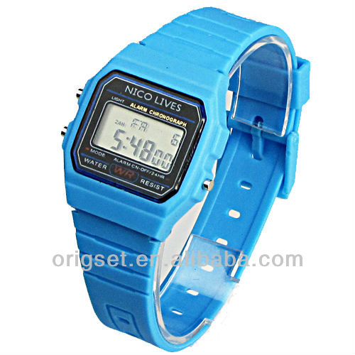 plastic digital sport watch for promotion