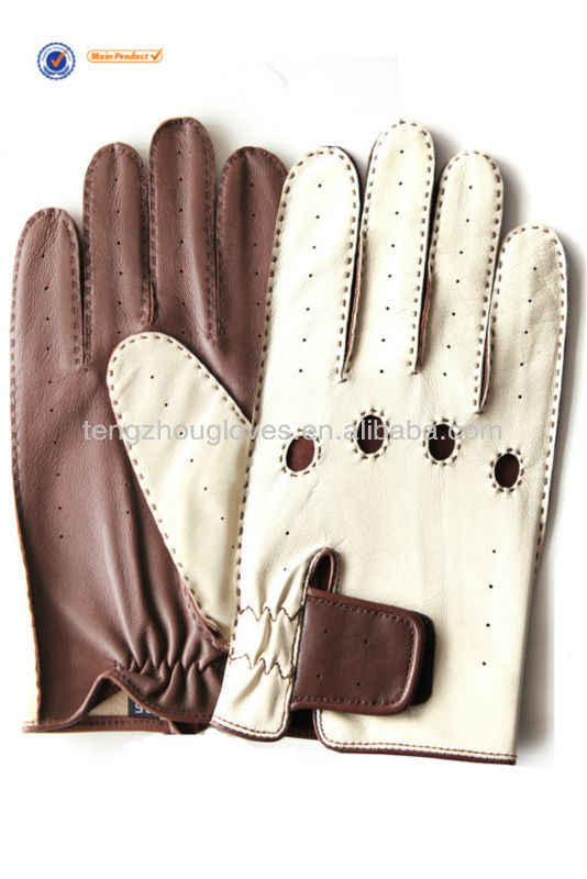 driving gloves ,bike gloves for men white and cognac color