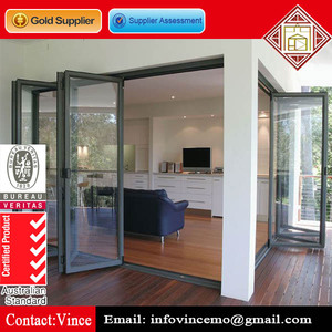Waterproof Double Glazed Aluminum Bifold Door