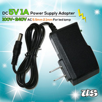 Durable DC 5V 1A Power Adapter AC 100V- 240V 5.5mm 2.1mm AC/DC Adapter US Plug