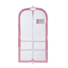 1GM0002 Customized Eco-friendly Clear Plastic PVC Garment Bag with Pockets