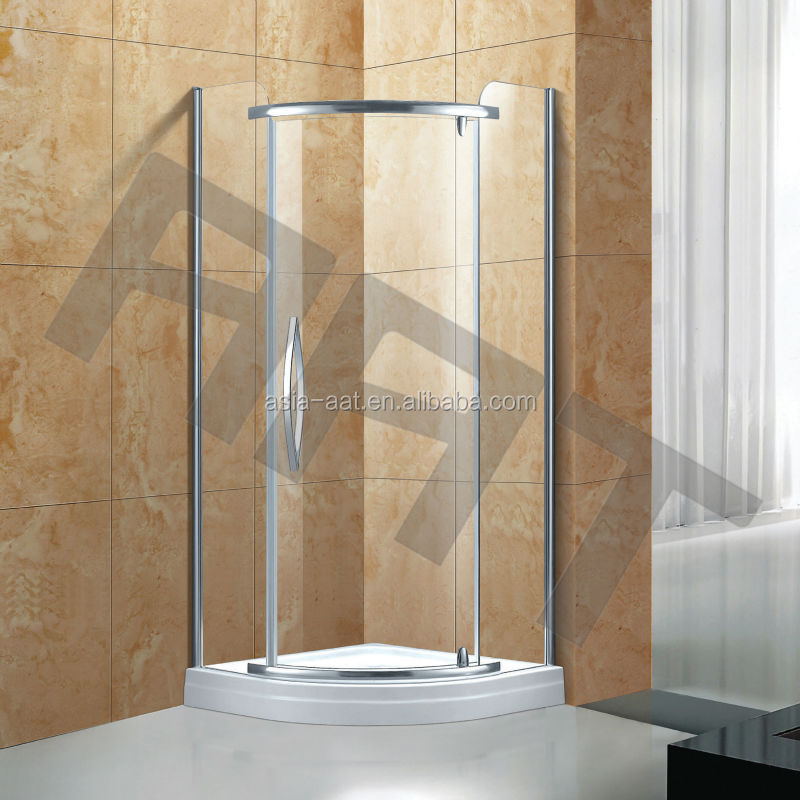 Sector open 3 sided shower enclosure