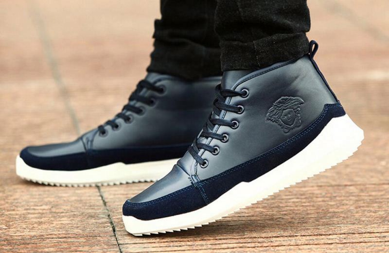 Online selling men fashion ankle boots Spring autumn comfortable leather boots Casual waterproof men sport platform shoes