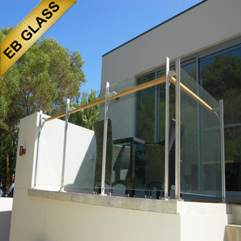 10mm tempered laminated frosted glass balcony, EB GLASS