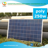 Hot selling high efficiency cheap price 250W Poly solar module