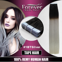 Forever russian remy wholesale ombre two tone wavy super tape hair extensions