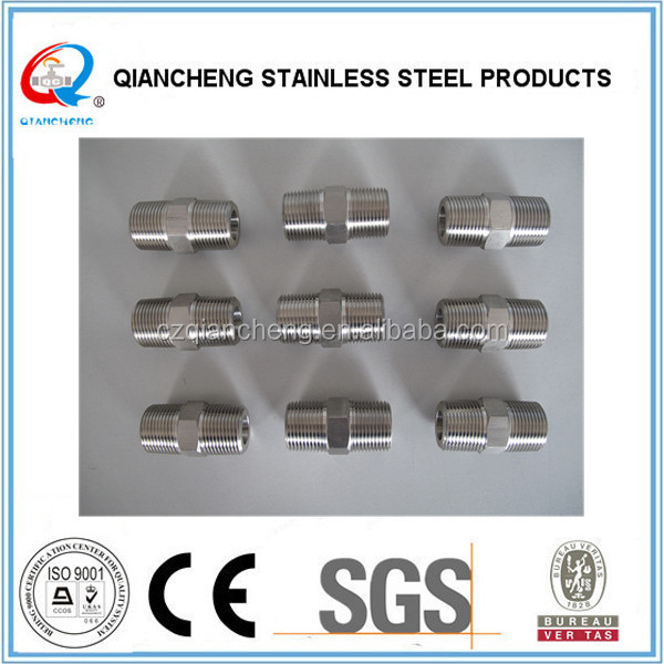 Stainless Steel Square Plugs Nipple Pipe/Tube/Hose Fittings