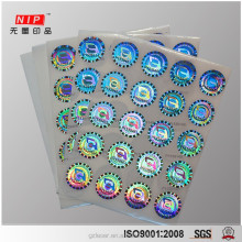Promotional high security anti-fake dot matrix hologram sticker