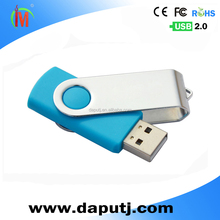 Hot swivel usb flash drive simple model shell mental and plastic usb flash drive /pen drive