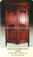 French Mahogany Wardrobe Indoor Furniture