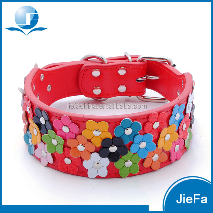 Fashion Pet Accessories Flowers Covered Dog Collar