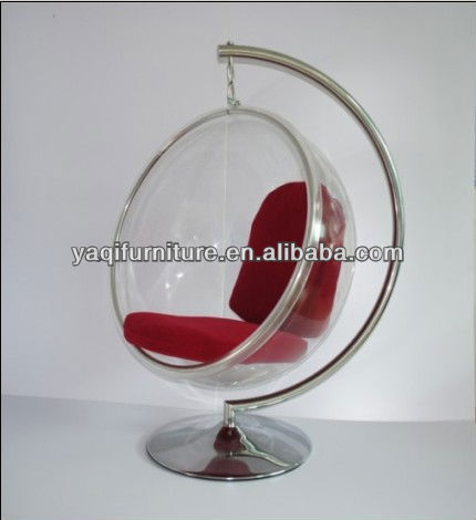 clear acrylic egg leisure chair with cushion