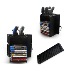 Game Disk Storage Stand Kit Tower Holder Dual Charging Dock Charger For Playstation 4 Console gaming fan