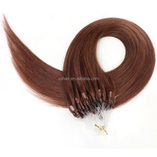 High quality remy virgin 1g best brazilan micro loop ring human hair extension
