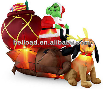 inflatable christmas grinch
