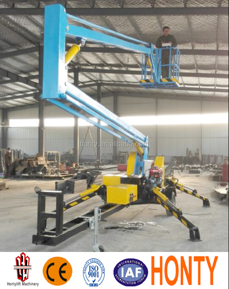 (16m)hydraulic trailer truck mounted arm elevated work platform boom lift