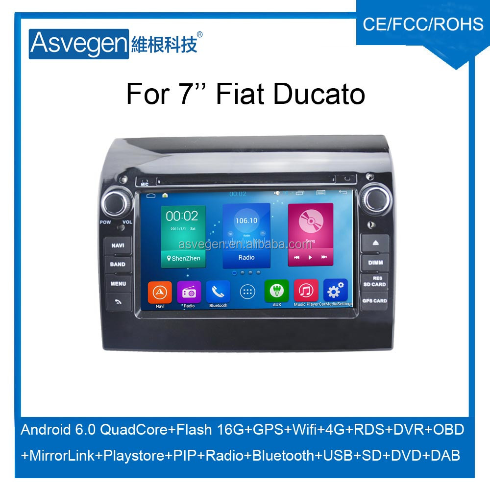 Wholesale Android Car DVD Player for 7'' Fiat Ducato Navigation Car DVD GPS Support Playstore,4G,WIFI