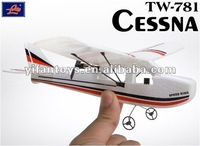Christmas gift EPP Cessna 2CH mini rc airplane TW-781