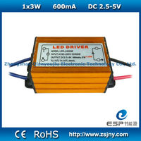 2015 Waterproof Constant Current 3W LED Power Driver