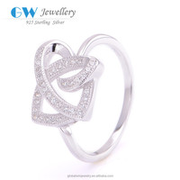Wholesale 925 Solid Silver Diamond Wedding Ring Latest Design Diamond Ring