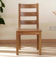 Safety oak wooden table chair with antique color