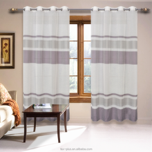 Oem Design Yarn Weaved Striped Royal Curtains Yarn Dyed Striped Royal Curtains