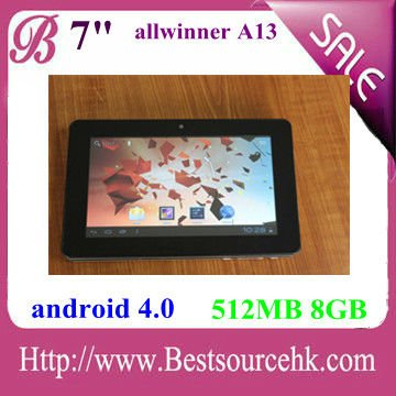 "7"" Allwinner A13 Android 4.0 Capacitive tablet"