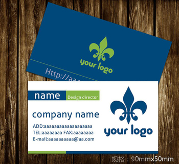 High quality coated paper business cards concise design business cards