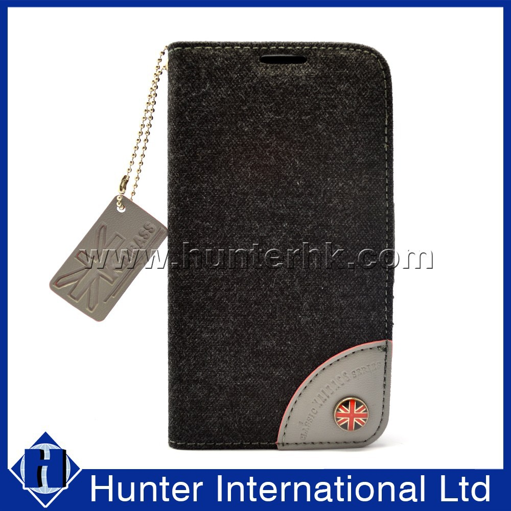 Compact Jean Wallet Leather Folio Case For I9500