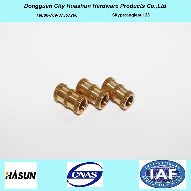 High Precision Brass Knurled M6 Insert Nut with Factory Price