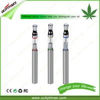 OCITYTIMES no leaking glass O2 hemp oil vape pen ecig with disposable silicon cap
