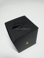 Customized wholesale elegant candle paper box with stamping insert