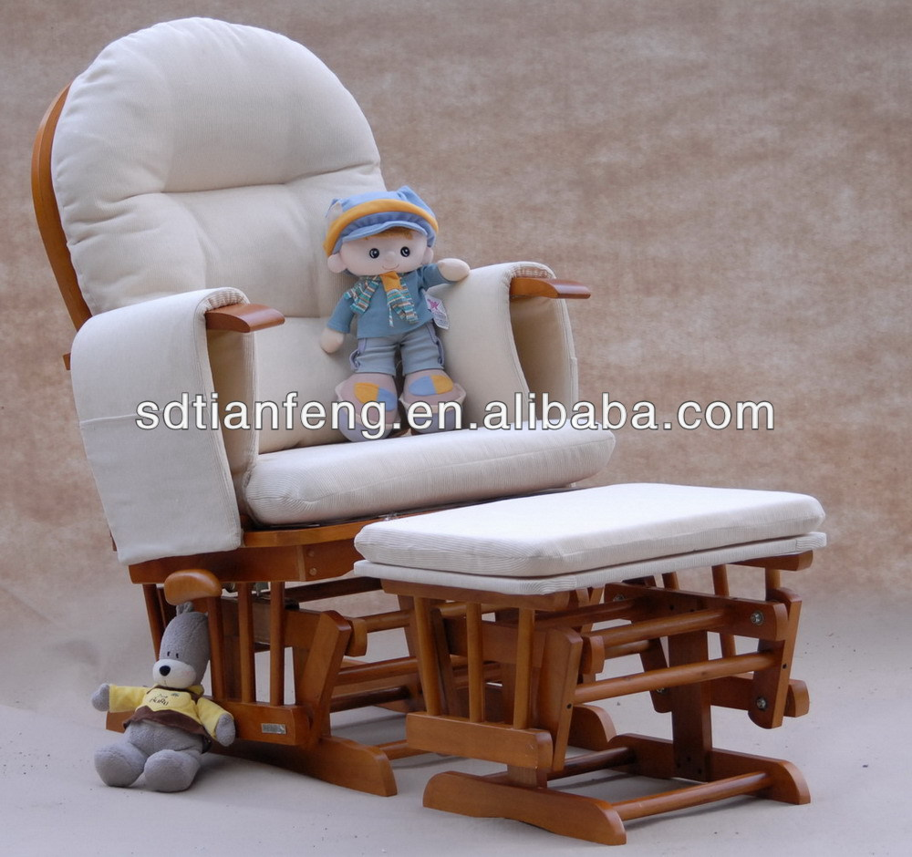 2014 tf05t cream cushion recliner glider chair with for Coussin rond pour chaise