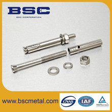 BSC supply SS316 Chemical anchor bolt price M24