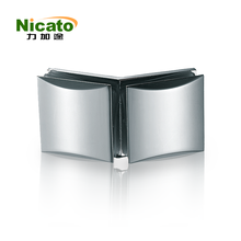 chrome double side fixing glass clamp
