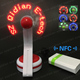 Hot in Russia NFC phone editable message text flashing led table fan for Smartphone