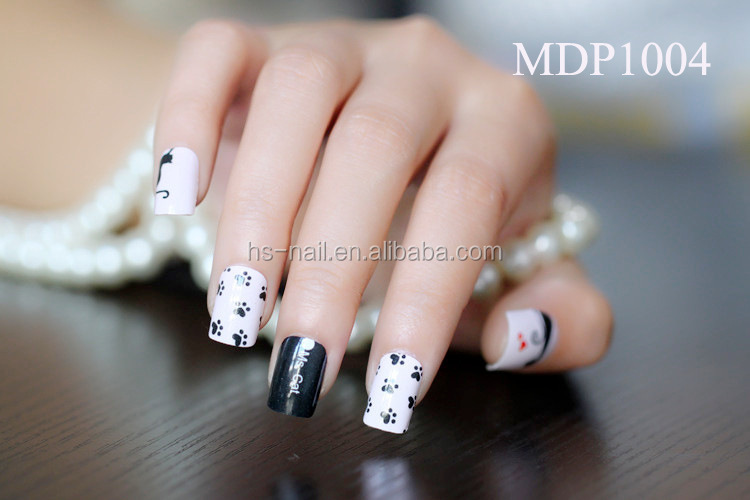 2015 MDP-2series elegant design nail polish wraps/nail patch/sticker