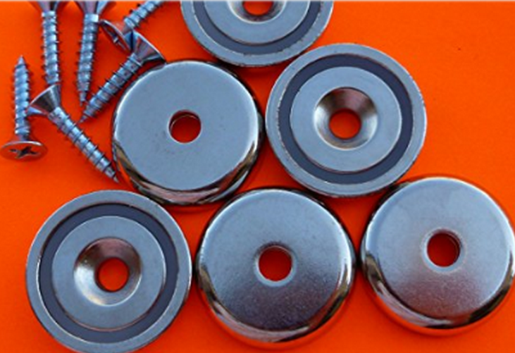 Neodymium Pot magnets/With Countersunk Holes,Screws, Hooks