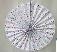 Paper fan party / wending decoration