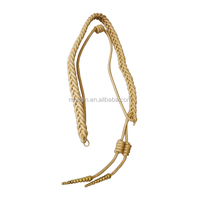 Army Officer Navy Police and military Aiguillette suppliers golden double tips style acrylic shoulder cord