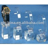 JWD--118 Crystal Clear Watch Holders/Desktop Acrylic Watch Holders