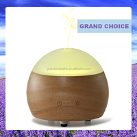 2016 aroma diffuser wood glass diffuser with colorful led changing