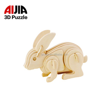 3d Puzzle birthday gift wood art projects animal crafts assemble diy model kits for kids
